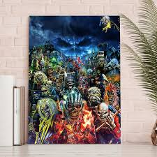 >iron maiden collage heavy metal wall art 1 piece canvas  iron maiden collage heavy metal wall art 1 piece canvas royal crown pro