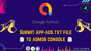 how to submit app ads txt file admob