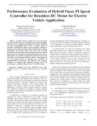 pdf performance evaluation of hybrid fuzzy pi sd controller for brushless dc motor for electric vehicle application