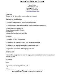 surprising sample resume for custodial worker 96 on resume examples with  sample resume for custodial worker