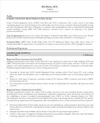 Registered Nurse Resume Examples Awesome 48 Sample Registered Nurse Resumes Sample Templates