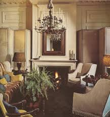 Furnitures:Modern Traditional Rustic French Interior Design With Fireplace  Decor And Luxury Hanging Lamp Idea