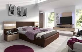 Fantastic white bedroom with contemporary furniture featuring