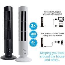 usb tower shape bladeless mini desk fan no leaf cooling office air