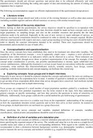 Considerations When Designing A Questionnaire Handbook Of Recommended Practices For Questionnaire