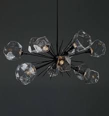 modern crystal chandelier bedroom gem oval starburst plb0039 0d for chandeliers black