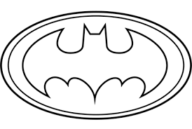batman symbol coloring page. Simple Page Batman Logo Coloring Page With Symbol Coloring Page L