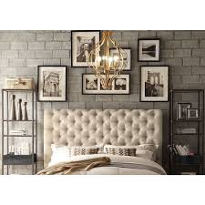 industrial themed furniture. moser bay furniture calia beige tufted upholstery queen headboard industrial themed