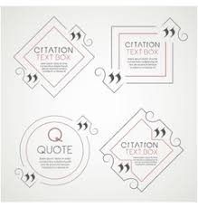 Decorative Text Boxes Citation text box Frame for decoration quote and Vector Image 67
