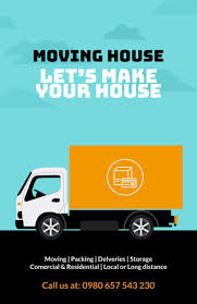 Moving Flyer Template Placeit Moving Company Flyer Template With Illustration