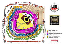 Heres The U2 Busch Stadium Seating Chart With Price Levels