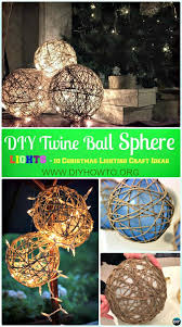 outside christmas lighting ideas. DIY Twine Sphere Ball Lights Instruction -DIY Christmas Ideas Crafts Outside Lighting