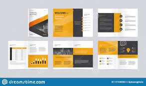 Magazine Content Page Layout Design Template Layout Design With Cover Page For Company Profile