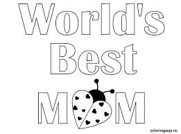 Small Picture I Love My Mommy Coloring Page Free Download