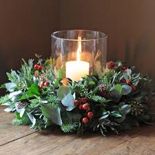 The Real Flower Company Christmas Rose Hips & Pine Table Wreath Getting  creative this Christmas - love this table decoration.