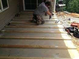 floating deck over concrete patio deck over deck over slab building a floating deck over a