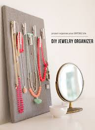 simple but chic diy jewelry organizer i want to fill my closet walls with these