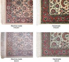 Note the strong visual differences between the machine-made and handmade  rugs. In particular, the back of the machine-made rug is very different in  ...