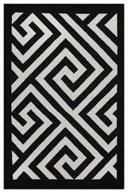 black and white geometric rug. broadway rug, black and white, 2\u0027x3\u0027 contemporary-area-rugs white geometric rug k