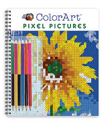 This Colorart Pixel Pictures Colored Pencils Coloring Book Set