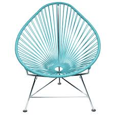 silver brushed metal chair woven. Acapulco Chair Silver Brushed Metal Woven