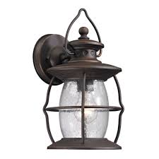 titan lighting big oak forge collection 1 light weathered charcoal outdoor sconce