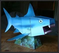shark papercrafts com animal paper model shark template