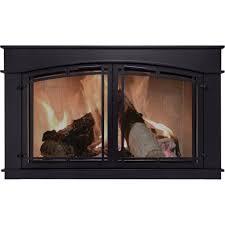 pleasant hearth glass fireplace door black fieldcrest small fc 5901 mesh screen