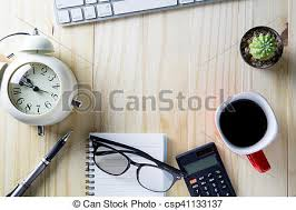 top office table cup. Top View Of Office Table, Cup Coffee, Pen, Calculator, Keyboard. Table C