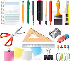 office drawing tools. drawing and office tools vector set miscellaneous conceptual f