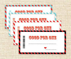 Good For One Coupon Template Rightarrow Template Database