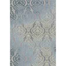5 x 7 medium gray and blue rug thelma