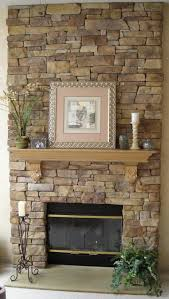 Decorations:Outdoor Stone Veneer Fireplace Brick Slate Wall Panels Rock  Idea Cool Rock Fireplace Mantel