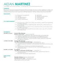 Restaurant General Manager Resume Hotel General Manager Resume