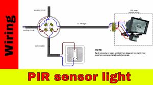 how to wire pir sensor light