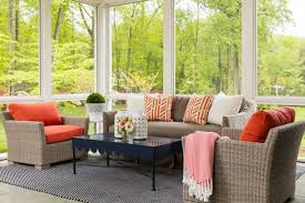 furniture for sunrooms. A Classic Choice Of Seating Furniture For Sunroom With Colorful Pillows Sunrooms H