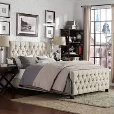 Knightsbridge Tufted Nailhead Chesterfield Bed with Footboard by iNSPIRE Q  Artisan