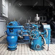Heavy Water Pumping Machinery In Vintage Industrial Water Cleaning.. Stock  Photo, Picture And Royalty Free Image. Image 11128017.