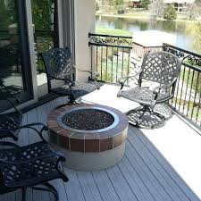 outdoor fireplace on deck outdoor fireplace needed a sitting on a smaller area of the deck