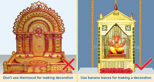 bringing shri ganapati idol home for worship sanatan sanstha