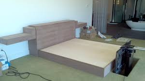 Bed With Tv Built In Black Walnut Bed With Tv Liftbuilt Into The Footboard Work Pics