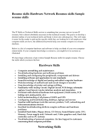 Computer Hardware And Networking Resume Samples Resume Skills Hardware Network Resumes Skills Sample Resume Skills 6