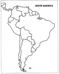Blank Map Of S America Homeschool Resources South America