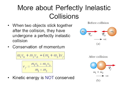 collisions summary in an elastic collision both momentum and kinetic energy are conserved in an