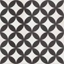 Black And White Pattern Tile Delectable Bertie BlackVictorian Effect 48D Circle Ceramic Floor Tiles