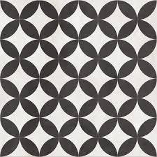 Black And White Pattern Tile Delectable Bertie BlackVictorian Effect 48D Circle Ceramic Floor Tiles