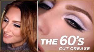 decades series 60s original cut crease makeup tutorial modern pastel look twiggy inspired