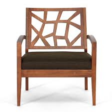 modern wood chair. Amazon.com: Baxton Studio Jennifer Modern Lounge Chair With Dark Brown Fabric Seat: Kitchen \u0026 Dining Wood O