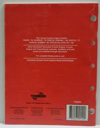 Tecumseh Repair Manual Guide Book 695244a 4 Cycle Overhead Valve Engines