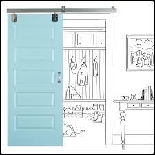 painted five panel sliding door